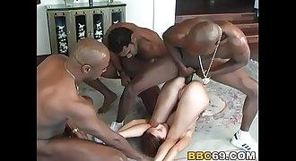 Petite Teen Saphire Interracial Assfuck Gangbang