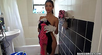 Petite teen maid