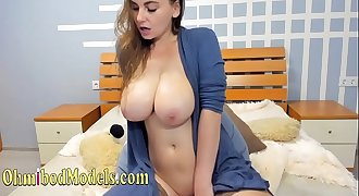 Very Busty Slim Petite Housewife