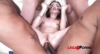 Super Petite intense nympho Jessi Empera 5on1 extreme ganbang drenched with Cum!